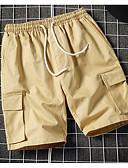 זול חולצות פולו לגברים-בגדי ריקוד גברים בסיסי שורטים מכנסיים - אחיד טלאים שחור אפור בהיר ירוק צבא US32 / UK32 / EU40 US34 / UK34 / EU42 US36 / UK36 / EU44