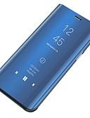 hesapli Cep Telefonu Kılıfları-Pouzdro Uyumluluk Samsung Galaxy S6 Toz Geçirmez / Ayna / Flip Tam Kaplama Kılıf Solid Sert PC