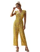 זול שמלות מיני-M L XL דפוס פרחוני, סרבלים ישר אודם כחול נייבי צהוב בסיסי בגדי ריקוד נשים