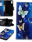זול מגנים לאייפון-מארז עבור iPhone xr / iPhone xs מקס מגנטי / להעיף / עם עמיד גוף מלא פרפר קשה עור pu עבור iPhone 5 / se / 5s / 6 / 6s פלוס / 7/8 פלוס / xs / x
