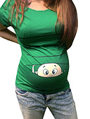 halpa Yläosat-Naisten Painettu Piirretty Perus T-paita Apila