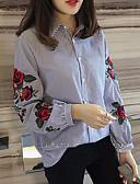 hesapli Tişört-Kadın's Gömlek Yaka İnce - Gömlek Desen, Geometrik Havuz