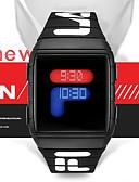 Недорогие Цифровые часы-Муж. электронные часы Цифровой Спортивные Стильные силиконовый Черный / Синий / Красный 30 m Защита от влаги Новый дизайн ЖК экран Цифровой На каждый день Мода - Черный Красный Синий / Один год
