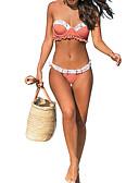 저렴한 비키니 & 수영복-여성용 오렌지 클로버 탱키니 수영복 - 플로럴 S M L 오렌지