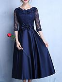 povoljno Maturalne haljine-Žene Elegantno Little Black Haljina - Čipka, Jednobojni Midi
