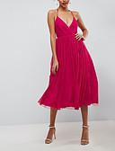 hesapli Mini Elbiseler-Kadın's Sokak Şıklığı Zarif Çan Kayakçı Elbise - Solid, Örümcek Ağı Kırk Yama Midi