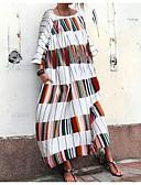 halpa Rento mekot-Naisten Boheemi Kineseria Paita Abaya Mekko - Raidoitettu, Laskostettu Patchwork Painettu Midi