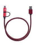 זול מטען כבלים ומתאמים-d8 סוג-טעינה כבל מינימום USB / סוג-c כבל 1m (3ft) מהירות גבוהה / טעינה מהירה 1 עד 2 כבל קלוע כבל מתאם USB עבור huawei / sansung / xiaomi
