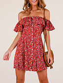 cheap Dresses For Date-Women's Street chic Elegant Sheath Dress - Floral Geometric Print Black Wine M L XL