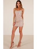 hesapli Mini Elbiseler-Kadın's Kılıf Elbise - Solid Mini