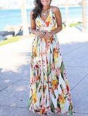 povoljno Maxi haljine-Žene Boho Swing kroj Haljina - Print, Cvjetni print Maxi