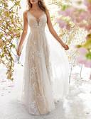 זול שמלות NYE-צווארון V מקסי גב חשוף שמלה נדן אלגנטית Party בגדי ריקוד נשים / סקסית