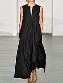 hesapli Maksi Elbiseler-Kadın's Çan Elbise - Solid Maksi