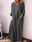 hesapli Maksi Elbiseler-Kadın's Tişört Elbise - Solid Maksi