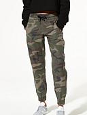 billige Skjorter til damer-Dame Lastebukser Bukser - Kamuflasje Farge Militærgrønn S M L