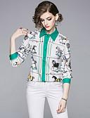 abordables Chemises Femme-Chemise Femme, Animal Mosaïque / Imprimé Elégant Cheval Blanche