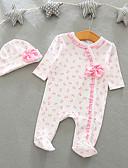 povoljno Kompletići za bebe-5 komada Dijete Djevojčice Aktivan / Osnovni Rukav leptir Print Print Dugih rukava Jednodijelno Svjetloplav
