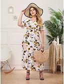 hesapli Kadın Elbiseleri-Kadın's Boho Şifon Elbise - Çiçekli, Desen Maksi