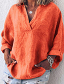 billige Skjorter til damer-Skjorte Dame - Ensfarget Oransje