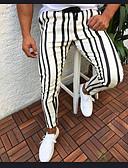cheap Men's Pants & Shorts-Men's Basic EU / US Size Slim Chinos Pants - Striped Stripe White Red Yellow US36 / UK36 / EU44 US38 / UK38 / EU46 US40 / UK40 / EU48 / Drawstring