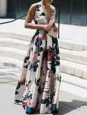 זול שמלות מקסי-V עמוק מקסי דפוס, פרחוני - שמלה נדן בסיסי בגדי ריקוד נשים