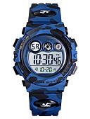 hesapli Çocuk Saatleri-SKMEI Genç Erkek Dijital saat Dijital Silikon Mavi / Yeşil / Donanma 50 m Su Resisdansı Alarm Saati Kronometre Dijital Yeni gelen Moda - Yeşil Mavi Koyu Mavi