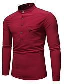 povoljno Muške jakne i kaputi-Majica Muškarci - Osnovni Dnevno Jednobojni Crn