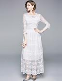 hesapli Romantik Dantel-A-Şekilli Taşlı Yaka Yere Kadar Polyester ile Resmi Akşam Elbise tarafından LAN TING Express
