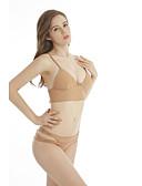 hesapli Bikiniler ve Mayolar-Kadın's Sportif Temel Haki Trójkąt Yarım Tanga Bikiniler Mayolar - Solid Arkasız Bağcık S M L Haki