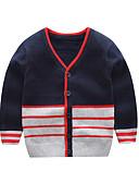 povoljno Dječaci & Dijete koje je tek prohodalo Veste-Dijete Dječaci Aktivan / Osnovni Prugasti uzorak / Print Kolaž Dugih rukava Džemper i kardigan Bijela