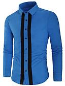 זול חולצות לגברים-קולור בלוק אלגנטית חולצה - בגדי ריקוד גברים שחור