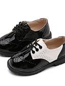 זול חליפות לנושאי הטבעת-בנים PU נעליים ללא שרוכים ילדים גדולים (7 שנים +) נוחות שחור / לבן קיץ