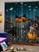 povoljno Haljine za djevojčice-vruća prodaja niska cijena 3d tiska zavjese halloween tema zadebljanje zatamnjenje tkanina zavjese za zabavu ukras štap set zavjesa gotova