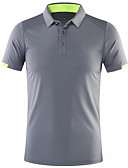 cheap Men's Clothing-Men's Daily Wear Polo - Solid Colored Black