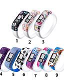 זול להקות Smartwatch-רצועת צמיד סיליקון לגימור vivofit jr jr2 vivofit 3 החלפת גשש פעילות גדולה / קטן שעון צמיד ספורט