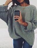 povoljno Ženske majice s kapuljačama i trenirke-Žene Jednobojni Dugih rukava Pullover Crn / Lila-roza / Obala S / M / L