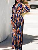 povoljno Ženski jednodijelni kostimi-Žene Ulični šik Navy Plava Jumpsuits, Geometrijski oblici S M L