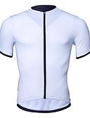 זול שמלות במידות גדולות-בגדי ריקוד גברים שרוולים קצרים חולצת ג'רסי לרכיבה לבן כתום אפור כהה צבע אחיד אופנייים ג'רזי צמרות נושם פתילת לחות ייבוש מהיר ספורט רכיבת הרים ביגוד