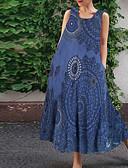 hesapli Mini Elbiseler-Kadın's Çan Elbise - Geometrik Midi