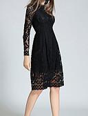 hesapli Kadın Elbiseleri-Kadın's Temel A Şekilli Kılıf Elbise - Solid Diz-boyu