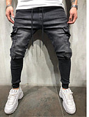 cheap Men's Pants & Shorts-Men's Basic EU / US Size Chinos Pants - Solid Colored Blue Black US32 / UK32 / EU40 US34 / UK34 / EU42 US36 / UK36 / EU44 / Drawstring / Elasticity