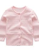 お買い得  赤ちゃん セーター&カーディガン-赤ちゃん 女の子 活発的 / ベーシック プリント 長袖 セーター&カーデガン ピンク