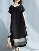 hesapli Maksi Elbiseler-Kadın's Kombinezon Elbise - Zıt Renkli Maksi