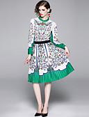abordables Chemises Femme-Femme Rétro Vintage Set - Fleur, Mosaïque / Imprimé Jupe