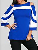 billige T-skjorter til damer-Bluse Dame - Stripet, Lapper Svart