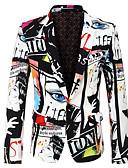 hesapli Erkek Blazerları ve Takım Elbiseleri-Erkek tünik Desen, 3D Beyaz