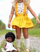 povoljno Haljinice za bebe-Dijete Djevojčice Osnovni Cvjetni print Kratkih rukava Haljina Bijela