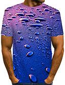 זול טישרטים לגופיות לגברים-קולור בלוק / 3D סגנון רחוב / מוּגזָם טישרט - בגדי ריקוד גברים דפוס כחול ים