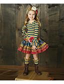 povoljno Haljine za djevojčice-Djeca Djevojčice Osnovni Prugasti uzorak Dugih rukava Komplet odjeće Duga