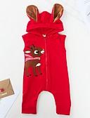 povoljno The Freshest One-Piece-Dijete Djevojčice Osnovni Print / Božić Bez rukávů Pamuk Jednodijelno Red